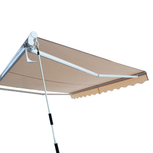 Outt Outdoor Retractable Patio Awning Sun Shade Canopy