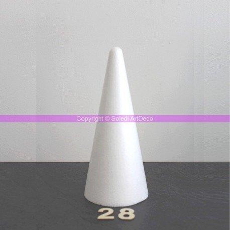 cone-polystyrene-hauteur-28-cm-diametre-de-base-12-cm