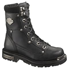 Harley-Davidson Mens Camshaft Black Mid Cut Riding Boot by Harley-Davidson (Mens)