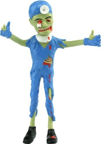 Brain Surgeon Zombie Bendable Action Figure Toy