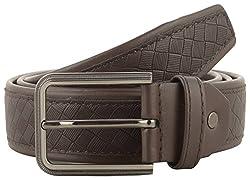 Jackblack Men's Synthetic Leather Belt (SEVP006, Brown, 32)