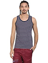 Wear Your Mind Blue Melange Cotton Vest For Men VS001.2