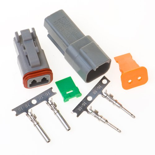 Buy Deutsch 2-pin Connector Kit W/housing, Terminals, Pins, and Seals 14-16 Gauge Crimp Style Termin...