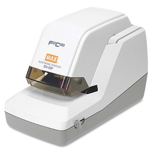 Max Eh-50F Max Eh-50F Heavy-Duty Flat Clinch Electric Stapler, 50 Sheet Cap.