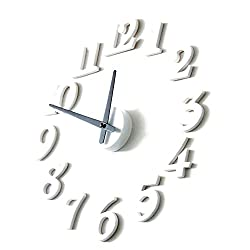 Mokingtop Fashion Modern Interior Decoration DIY Self Adhesive Decal Wall Digit Number Clock