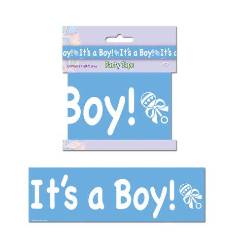 It's A Boy Party Tape Party Accessory (1 count) (1/Pkg) - 1