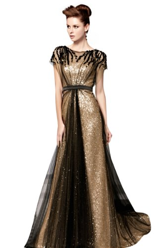 black gold formal gowns