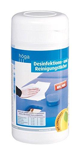 Desinfektionstücher / Reinigungstücher 100 Stück feuchte Desinfekitonstücher in der Spenderdose, Flächendesinfektionsmittel  - Frische Sauberkeit und gesunde Hygiene für den Alltag.