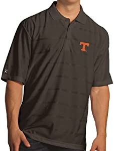 Tennessee Volunteers Antiqua NCAA Tone Performance Polo Shirt - Black by Antigua
