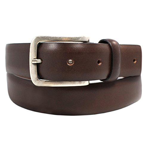 canali-mens-genuine-leather-belt-dark-brown-size-42