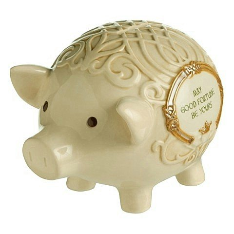 Grasslands Road Good Fortune Celtic Piggy Bank #463296