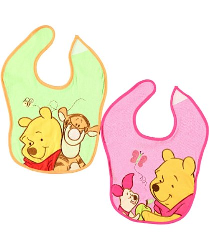 "Disney ""Pooh & Friends"" 2-Pack Terry Bibs - pink, one size - 1"