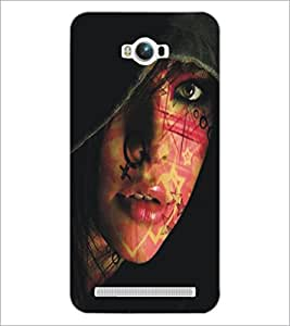 PrintDhaba Cute Face D-5445 Back Case Cover for ASUS ZENFONE MAX ZC550KL (Multi-Coloured)
