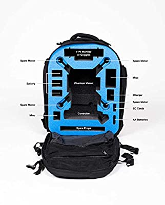 Go Professional Cases Black Fieldline Phantom 2 Vision/vision+ Backpack
