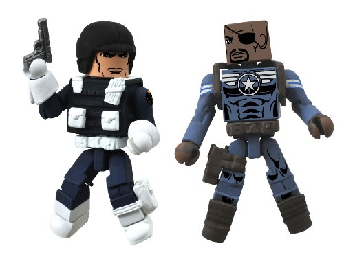 Diamond Select Toys Marvel Minimates Series 51 Marvel Now Nick Fury Jr. and Heavy Shield Agent The She-Devil Action Figure (She Devil Statue compare prices)