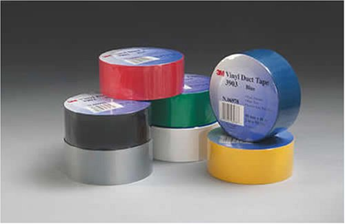 3M Vinyl Duct Tape, Yellow, 2-Inch By 50-Yard, 6.3 Mil