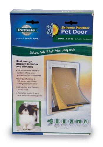On sale petsafe small extreme weather pet door white read for Best weatherproof dog door