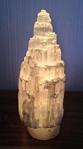 Selenite Natural Tower / Iceberg Table Lamp - H35 Cm -