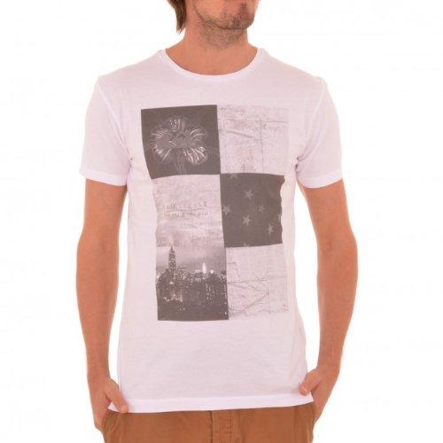Quiksilver -  T-shirt - Basic - Maniche corte  - Uomo bianco L