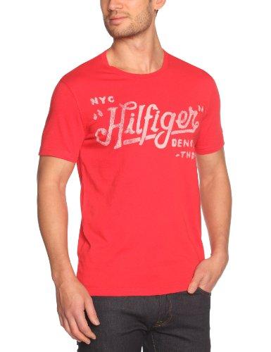 Tommy Hilfiger Federer Cn Shortsleeve 614 Logo Men's T-Shirt Scarlet Large