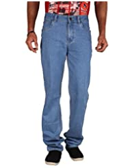 U.S. Rugby Light Blue Stretchable Denim Regular Fit Men's Jeans