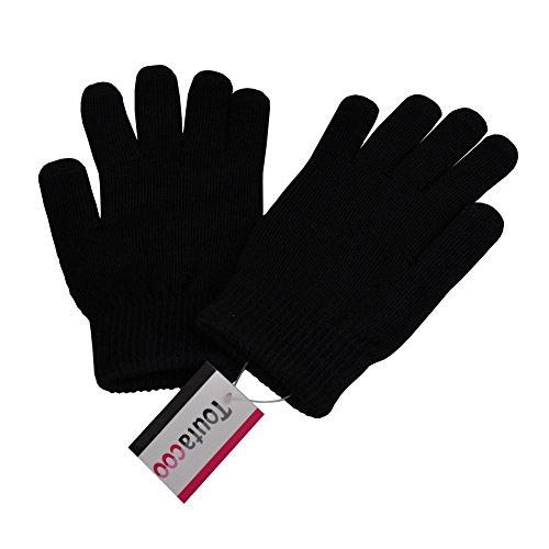Toutacoo-Gants-Tactiles-10-doigts-EN-LAINE-avec-doublure-pour-iPhone-Samsung-et-Smarphones