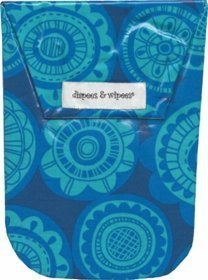 Diapees & Wipees Waterproof Jubilee Blue Baby Diaper and Wipes Bag