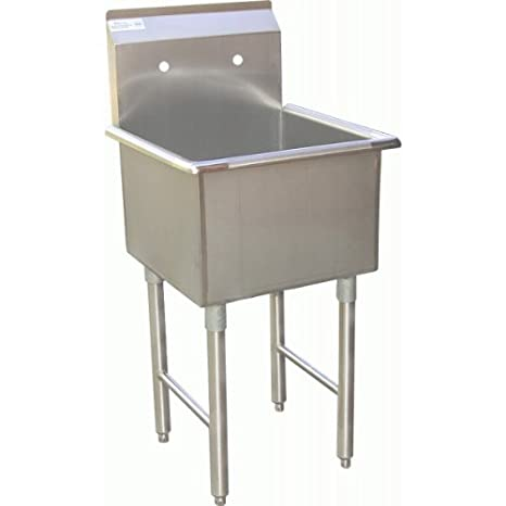 "Allstrong 1 Compartment Stainless Steel Utility Preparation Sink 18""x18""x13""d NSF SE18181P"