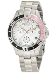 Stuhrling Original Women's 162CR.11217 Lifestyles Regatta Pearl Chronograph Black and Pink Bezel Watch