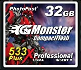 PhotoFast G-Monster 533倍速 32GB コンパクトフラッシュカード読込80MB/s 書込80MB/s GM-533CF32SL