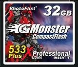 PhotoFast G-Monster 533倍速 32GB コンパクトフラッシュカード読込80MB/s 書込80MB/s GM-533CF32SL