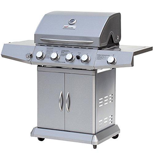 Broil-master - Barbecue à Gaz 4 + 1 Brûleurs Acier Affiné Adapté au Butane et Propane