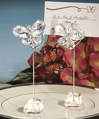 6 transparente Porte-cartes en forme de Papillon