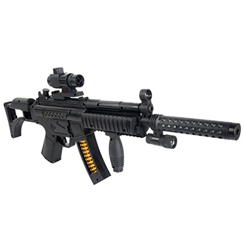Kidslove Children Electric Toy Guns Sound Emitting Lights Submachine Sniper Rifle Military Model (Toy Assault Rifle With Bullets compare prices)