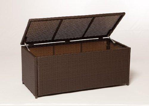 VERONA: Auflagenbox 123x54x60cm, Stahl + Polyrattan moccafarben jetzt kaufen