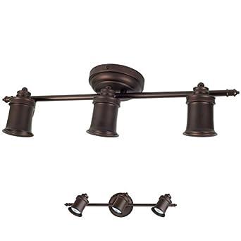 3 bulb wall or ceiling mount track light fixture kitchen. Black Bedroom Furniture Sets. Home Design Ideas