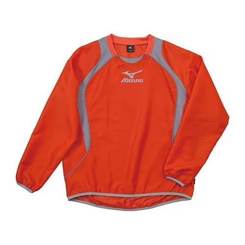 (ミズノ)MIZUNO フットボール ウインドブレーカーシャツ 62WS270 55 オレンジ×グレー S