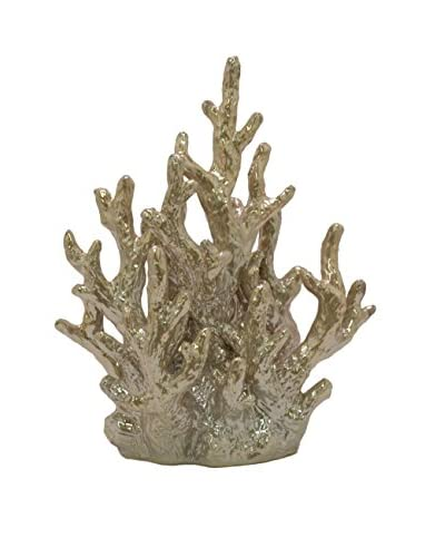 Three Hands Gold Ceramic Coral Décor