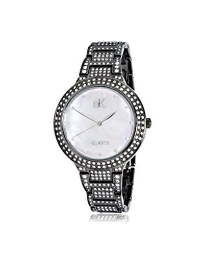 Adee Kaye Women's AK23-LIPB/CR Perlas Collection Mother-of-Pearl, Crystal & Brass Watch