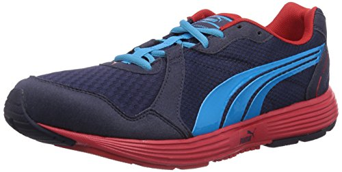 Puma Descendant v2, Herren Laufschuhe, Blau (peacoat-fluo blue-high risk red 16), 42 EU (8 Herren UK)