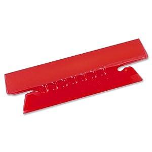 Pendaflex Hanging File Folder Tabs, 1/3 Tab, 3.5 Inch, Red Tab/White Insert, 25 per Pack (43-1/2-RED)