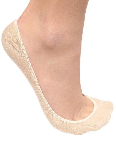 Stomper Joe 4 Pack Premium Cotton No Show Socks for Women, Non Slip, Low Cut