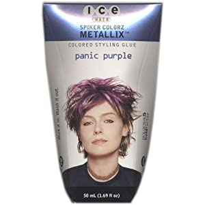Joico Ice Spiker Colorz Metallix Styling Glue - Panic Purple Women Glue, 1.69 Ounce