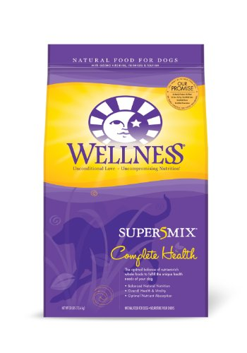 Wellness Super5Mix Dry Dog Food, Complete Health Chicken Recipe, 30-Pound