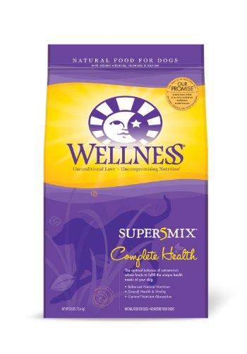 Wellness Super5Mix Dry Dog Food, Complete Health, Chicken Recipe, 30-Pound