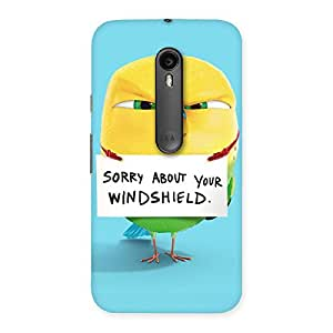 Cute Cute Sorry Print Back Case Cover for Moto G Turbo