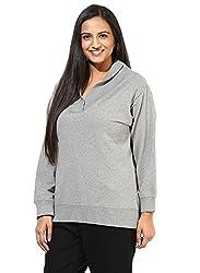 GRAIN Grey Color Regular fit Plain Solid Cotton Jackets for Women