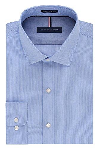 dfd34a92c Tommy Hilfiger Men's Non Iron Slim Fit Stripe Spread Collar - Import It All