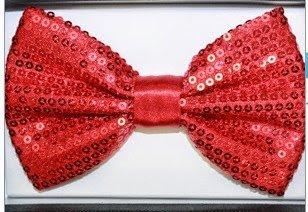 Sequence Red Tuxedo Classic Bow Tie, Cravat, Necktie, Neckwear Adjustable Men'S Fashion Bowtie - Zebra