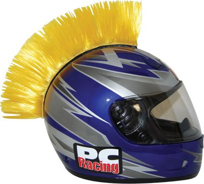 Buy Low Price Pc Racing Helmet Mohawks Yellow Velcro (PCHMYELLOW)